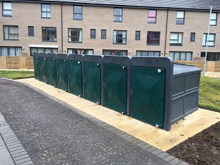 Bike Vaults provided at Wester Hailes, Edinburgh